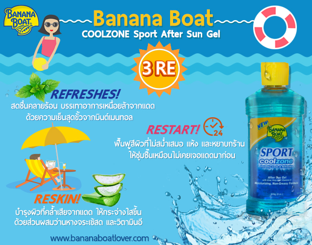 Banana Boat CoolZone Sport After Sun Gel