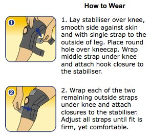 Futuro Sport Adjustable Knee Stabilizer How to wear
