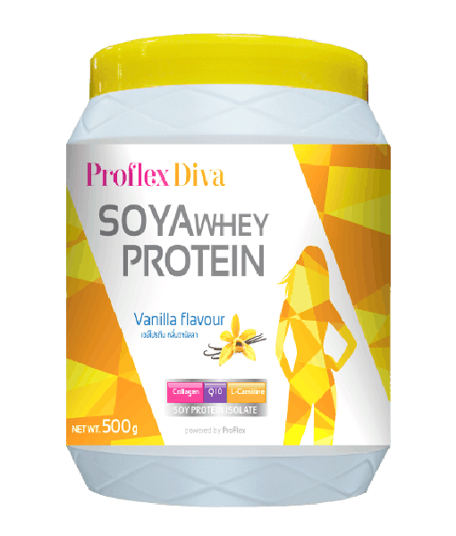 Proflex Diva Soya Whey Protein Vanilla Flavor 500 g