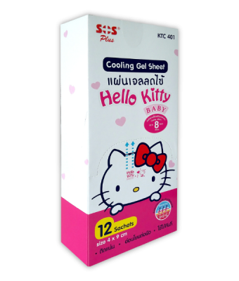 SOS Hello Kitty Cooling Gel Sheet 4x9 cm 1 pcs