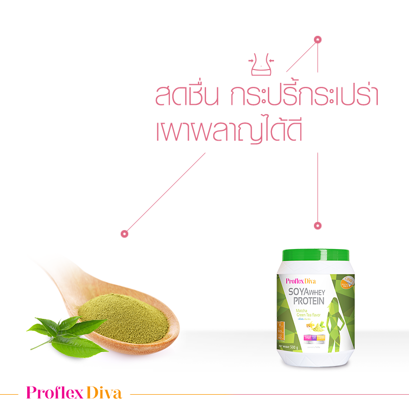 Proflex Diva Soya Whey Protein Matcha Green Tea