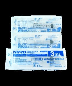 Nipro Syringe 3 ml 100 pcs กระบอกฉีดยา