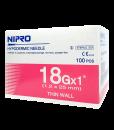 Nipro 18Gx1 100 pcs เข็มฉีดยา