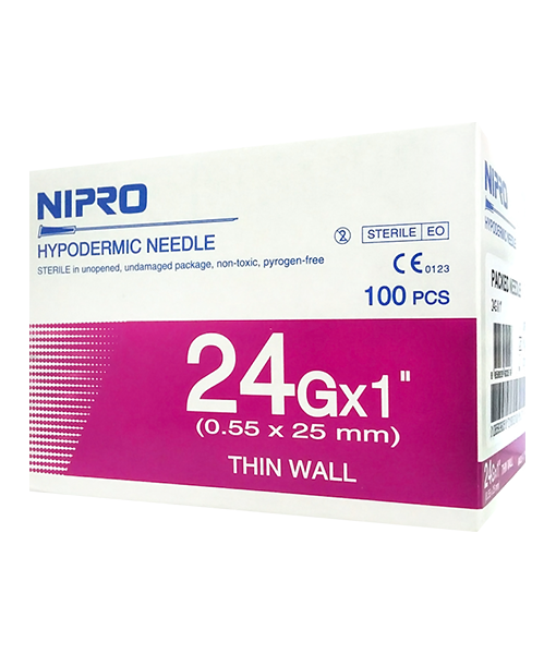 Nipro 24Gx1 100 pcs เข็มฉีดยา
