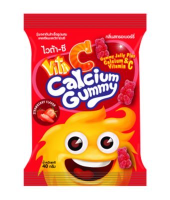 Vita C Gummy Calcium Strawberry 1 pc