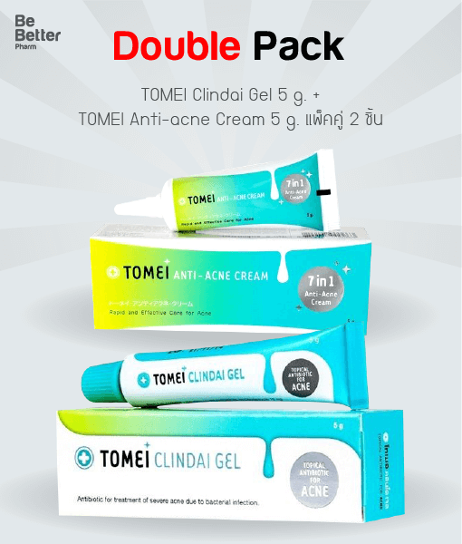 TOMEI Clindai Gel 5 g + TOMEI Anti-acne Cream 5 g