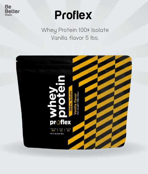 Proflex Whey Protein Isolate Vanilla 5 lbs. โฉมใหม่!